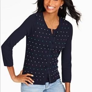 Talbots French knot cardigan